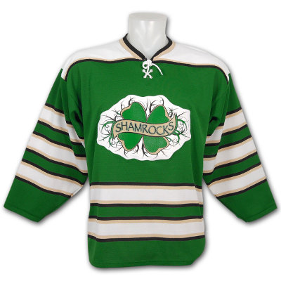 St. Patrick's Shamrocks Replica Green Hockey Jersey