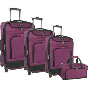 Travel Gear Spectrum 4 Piece Spinner Luggage Set