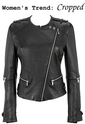 Pelle Asymmetrical Zip Short Leather Jacket