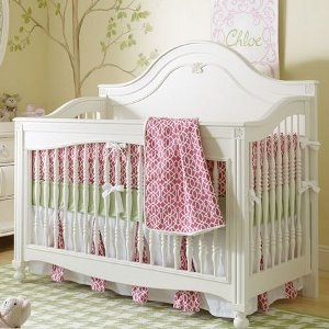 Posh Palette Decorative Spindle Convertible Crib