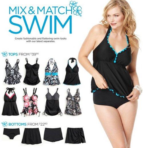 avenue plus size swim wear