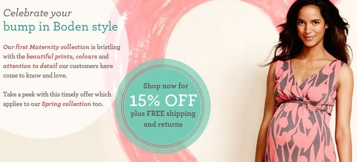 boden maternity collection