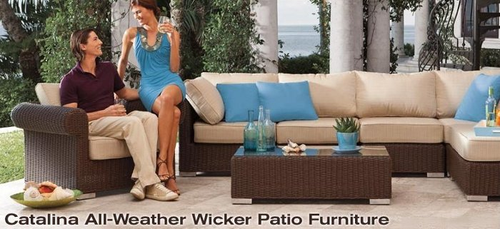 brookstone catalina all-weather wicker patio furniture