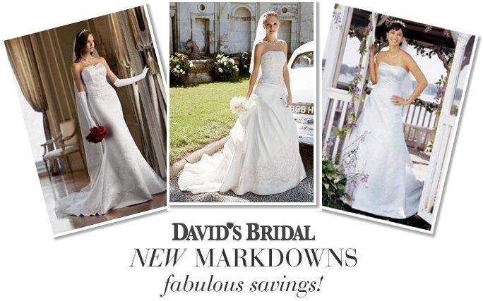 davids bridal new markdowns