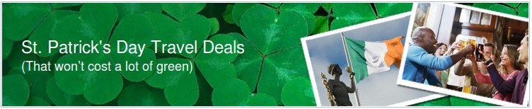 expedia st patricks travel deals