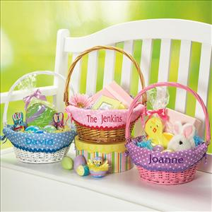 fabric lined wicker easter baskets