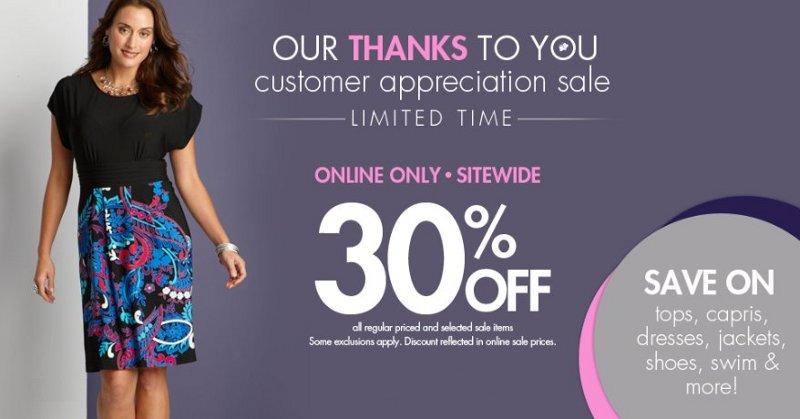 Fashion Bug Customer Appreciation Sale