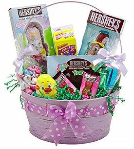 hersheys large purple easter basket