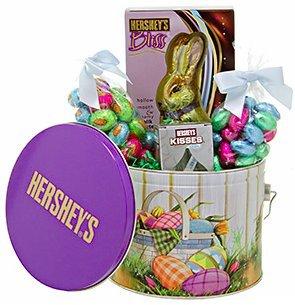 hersheys tin basket pail