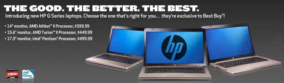 hp g seires laptops