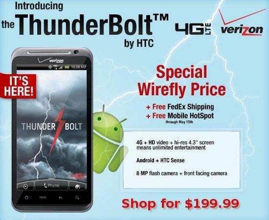 HTC Thunderbolt 4G Smartphone