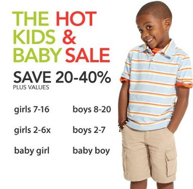 Macys Kids and Baby Sale