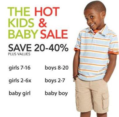 Macys Kids and Baby Sale