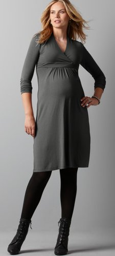 maternity empire pocket dress