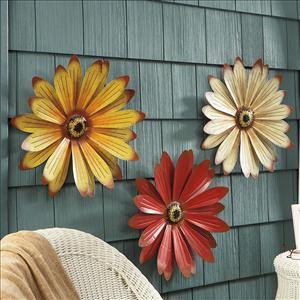 metal wall flowers