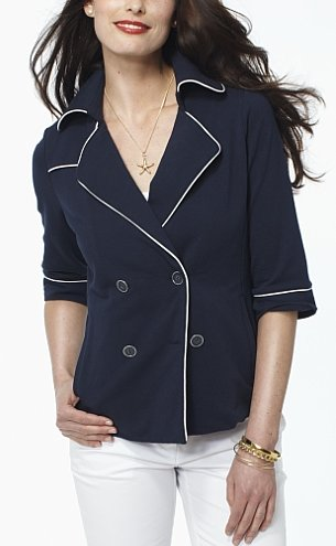 nautica double-breasted knit peacoat