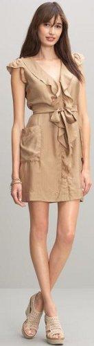 Silk flounce dress