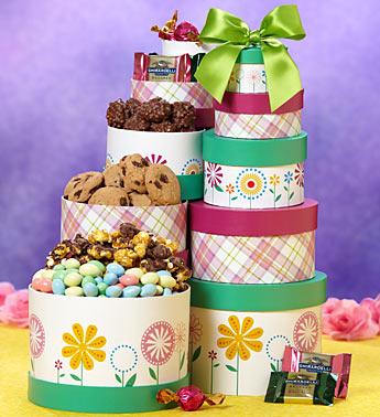 Sweet Spring Greetings Gift Tower