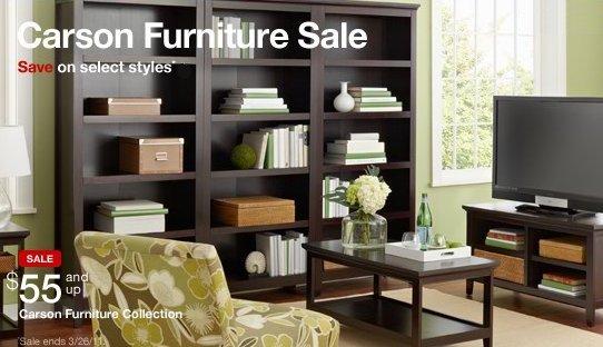 target carson furniture sale