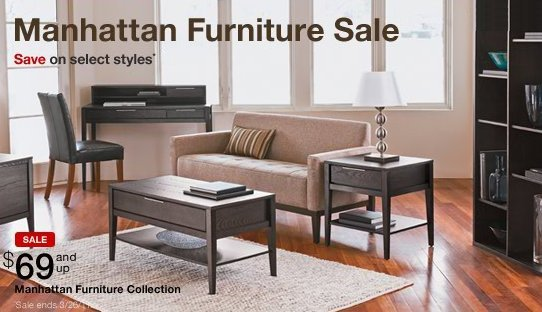 Target Furniture Sale Save On Carsons And Manhattan Furniture Pieces Online Shopping Blog
