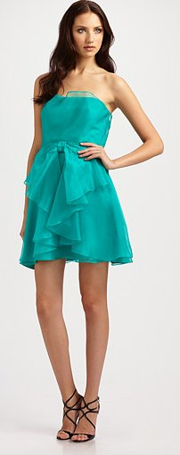 Strapless Organza Bow Dress