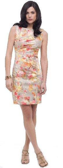 AK Anne Klein Printed Floral Shirt Dress