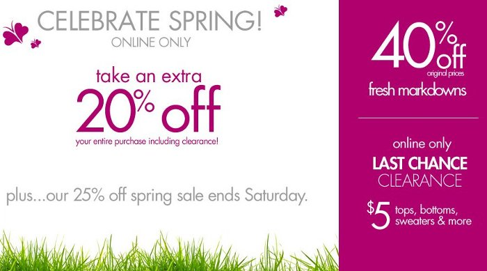 fashion bug spring savings