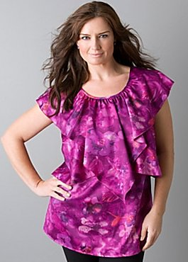 floral waves tunic