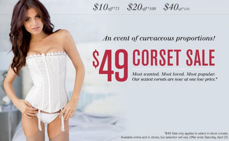 fredericks corset sale