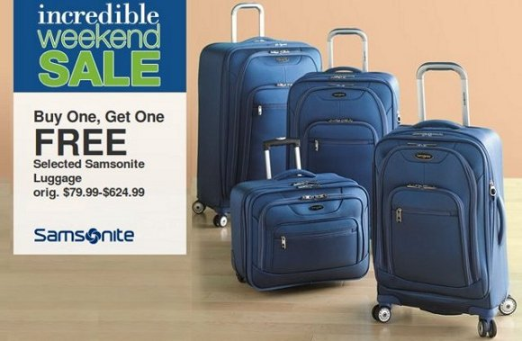 kohls luggage offer