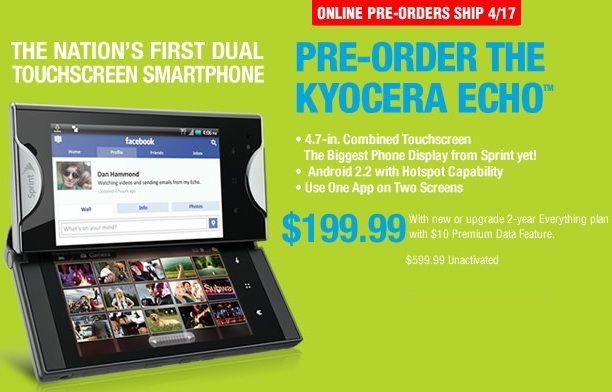 kyocera echo for sprint