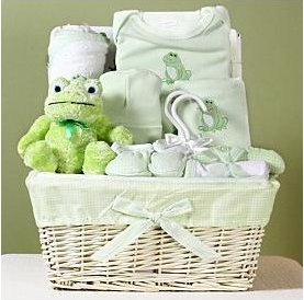 little froggy baby basket