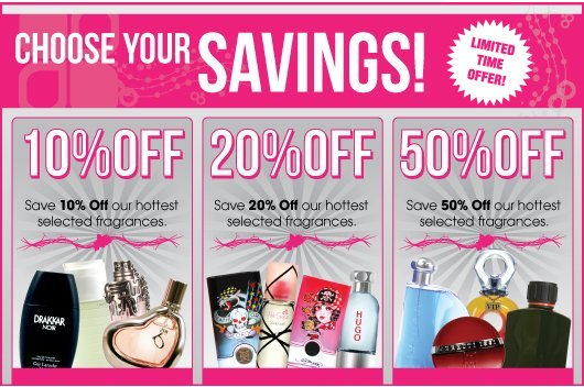 perfumania choose your savings offer
