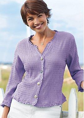 pucker-rayon shirt