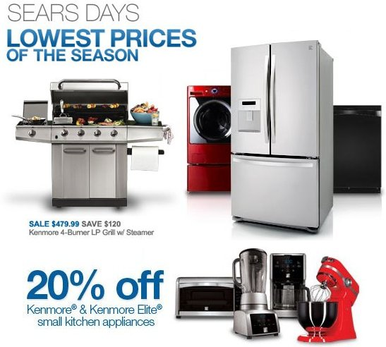 sears kenmore appliances coupons
