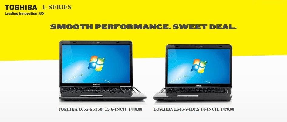 toshiba l series laptops