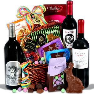 Red Wine & Dark Chocolate Easter Basket