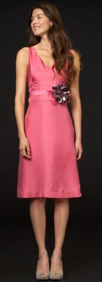 BR Monogram silk corsage dress