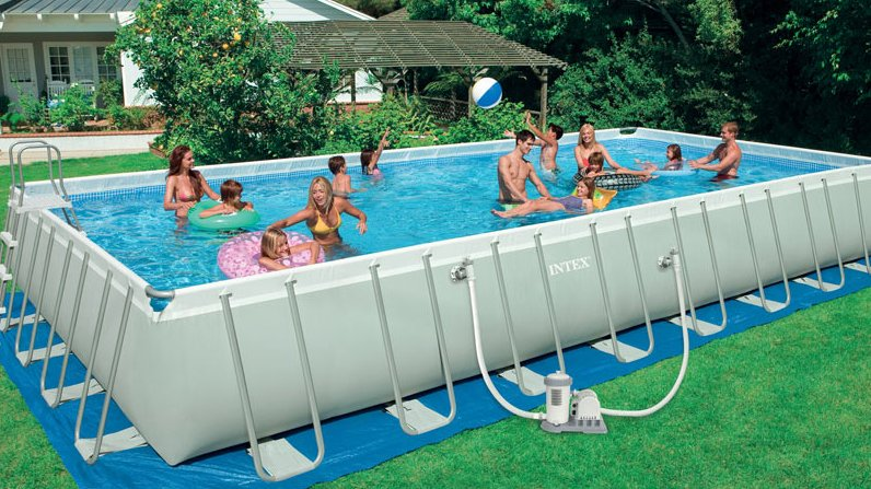Sears Deal Save 270 On Intex Rectangular Frame Above Ground Pool Online Shopping Blog