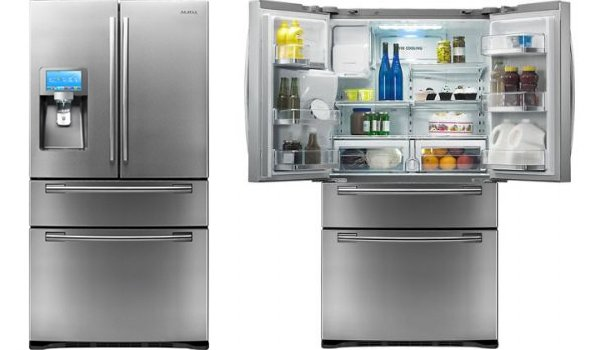 Samsung - 28.0 Cu. Ft. French Door Refrigerator with LCD Touch Screen and Apps