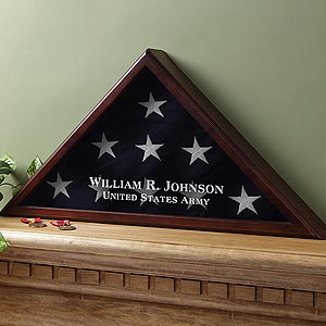American Hero Personalized Flag Box