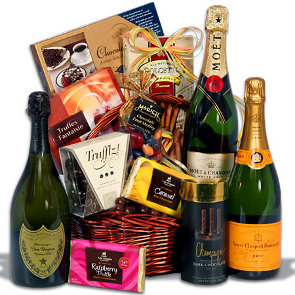 champagne-and-truffles-gift-basket