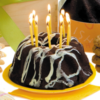 Chocolate Espresso Happy Birthday Cake