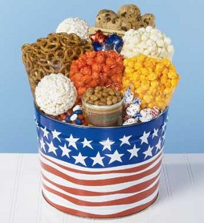 flag waving snack assortment