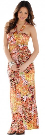 Floral Tile Burst Maxi Dress