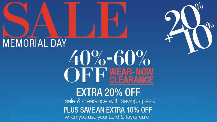 lord and taylor memorial day sale