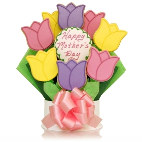 Mother's Day Tulips Cookie Bouquet