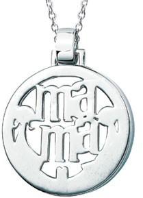 Platinum Plated Ma-Ma Pendant