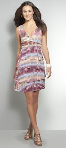 Sleeveless Tiered Multicolor Dress