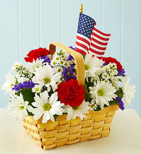 red white and blooms